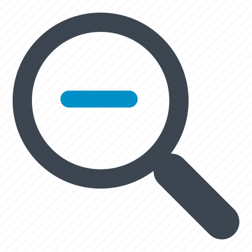 find, magnifying, magnifying glass, minus, search, zoom icon
