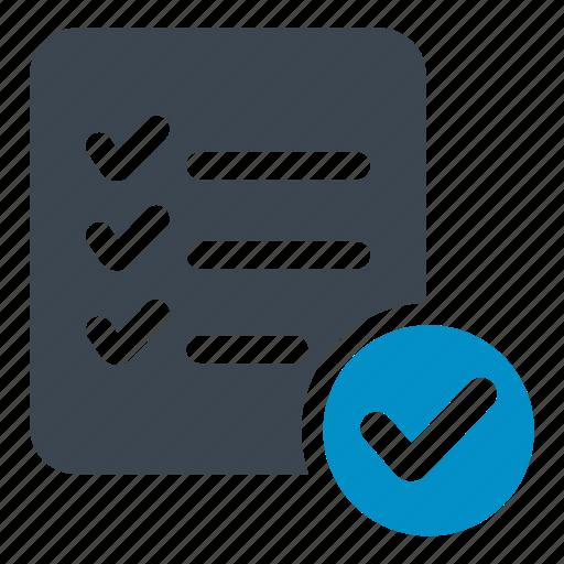 checking, checklist, file, list, listindicate, menu, verify icon