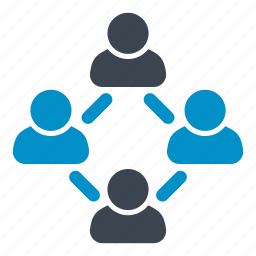 collaboration, connection, group, network, social media, social network, users icon