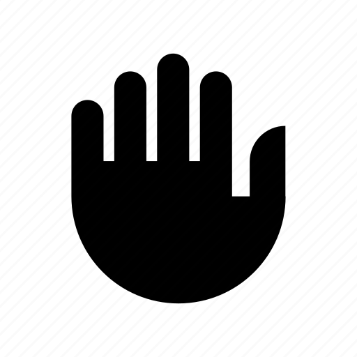gesture, hand, high five, manual, stop icon