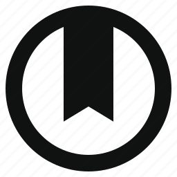 bookmark, flag, mark, ribbon, round, saves, strip icon