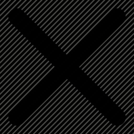 cross, delete, ignore, multiply, remove, x icon