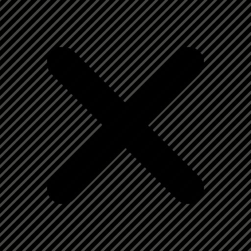 cross, delete, hide, remove, x icon