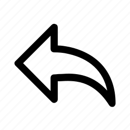 arrow, back, left, return, undo icon