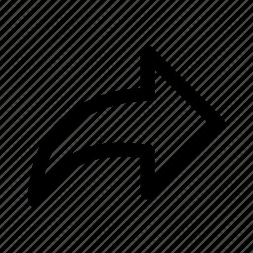 arrow, next, redo, right, share, share files icon