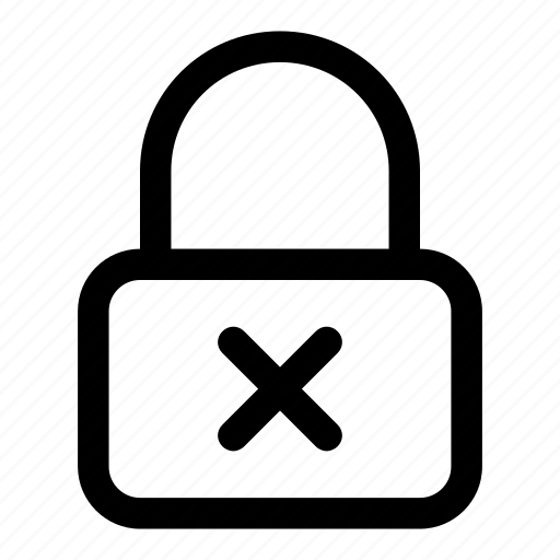 lock, no access, security icon