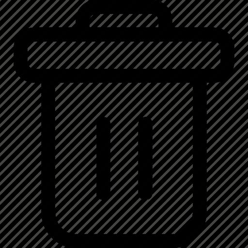 can, delete, remove, trash, trash bin icon