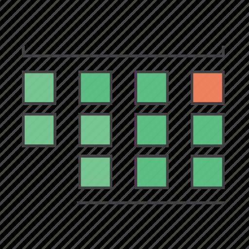 blocks, calender, date, grid, planner, scheduler icon