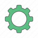 edit, gear, maintenance, profile, service, settings, support icon
