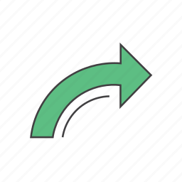 arrow, direction, forward, go, next, redo, right arrow icon