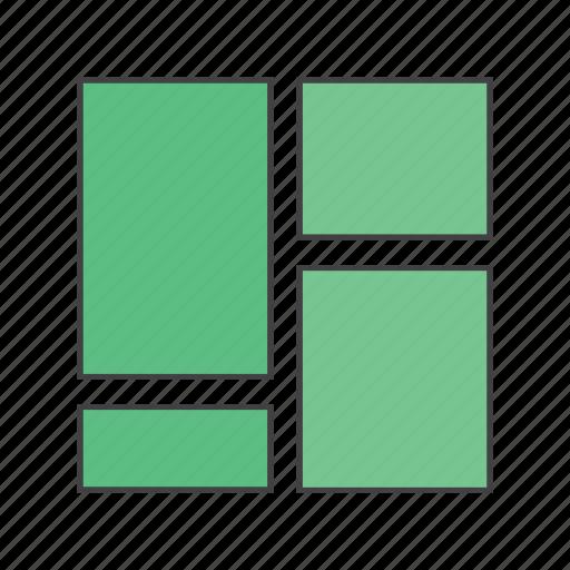 blocks, collage, grid, main menu, navigation, web icon