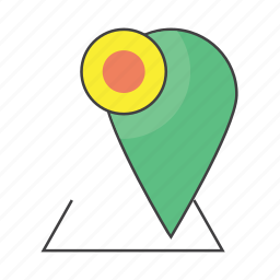 communication, gps, location, map, marker, navigation, place icon