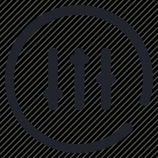 audio, equalizer, media, music, setting, sound, ui icon