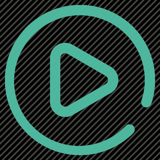 internet, multimedia, music, play, ui, video icon