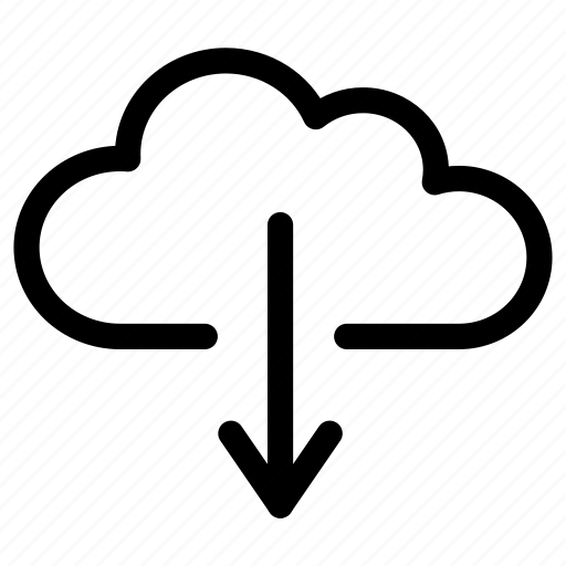 cloud, data, download, downloading, import, receive, storage icon