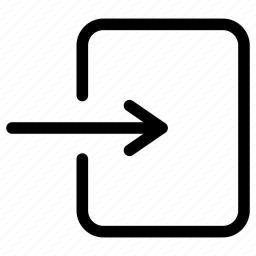 arrow, enter, import, inside, login, signin icon