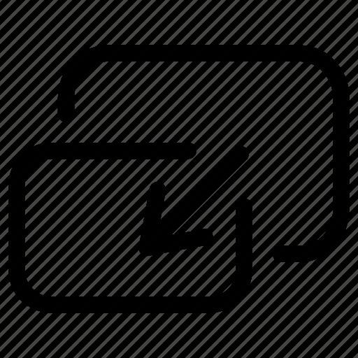 arrows, exit, fullscreen, minimize, player, video icon