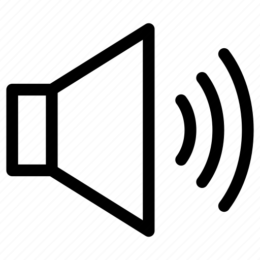 audio, level, loud, music, sound, speaker, volume icon