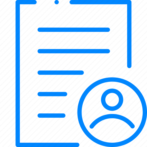 author, document, file, paper, user icon