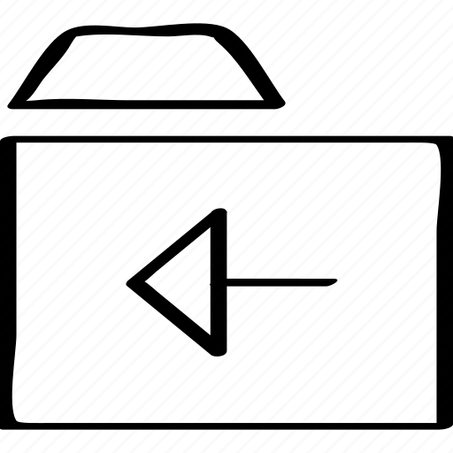 arrow, back, folder, left icon