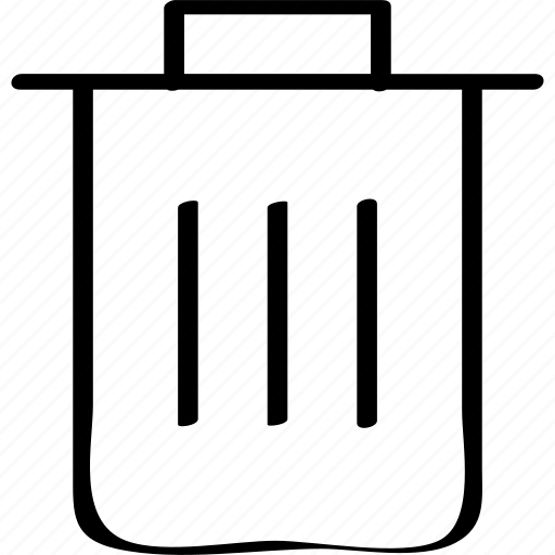 bin, delete, erase, trashcan icon