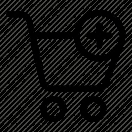 add, basket, buy, cart, ecommerce, shopping icon