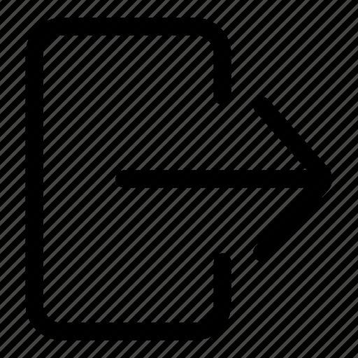 door, escape, exit, exit door, right arrow icon
