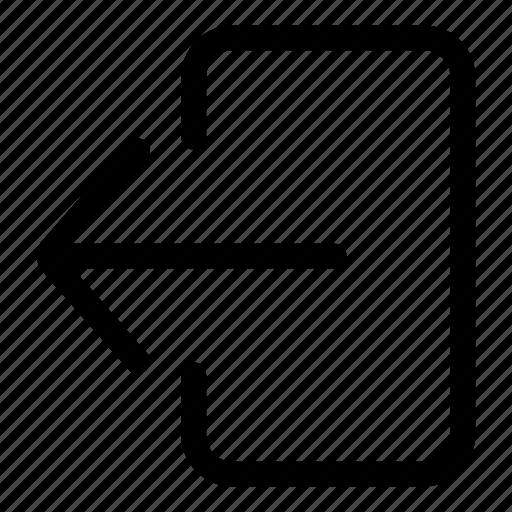 arrow, control, exit, left arrow, log out icon