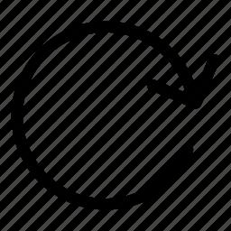 circular arrow, direction, loading, orientation icon