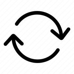 arrows, circular arrow, direction, orientation icon