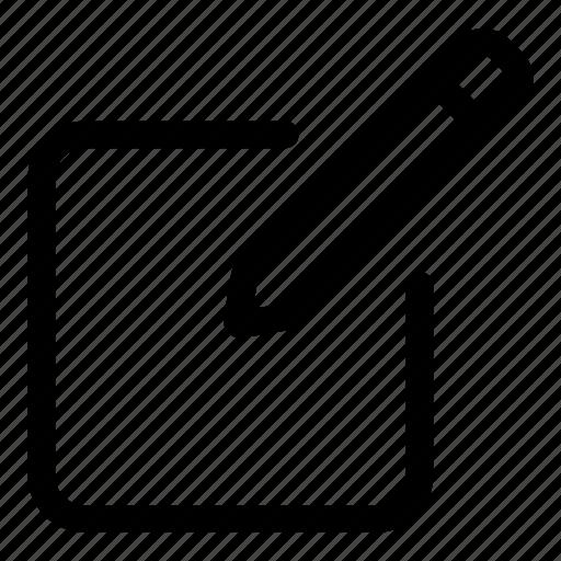 Pencil, edit, pen, interface, document, archive icon - Download