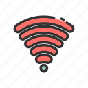 signal, internet, interface, connection, wifi, user, ui