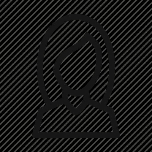 account, avatar, female, girl, hair, user, woman icon