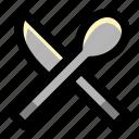 appliance, cook, food, kitchen, knife, restaurant, spoon