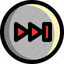 fast, forward, multimedia, next, player, skip, ui