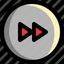 arrow, direction, fast, forward, multimedia, next, player