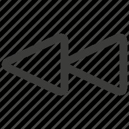 app, arrow, back, direction, left, music, previous icon