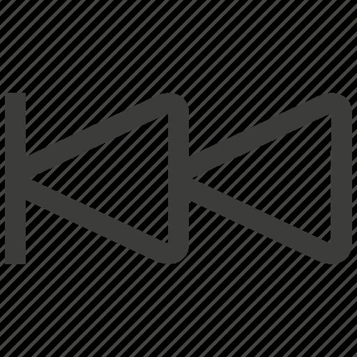 arrow, back, backward, direction, left, music, previous icon