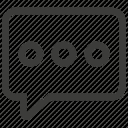 bubble, chat, communication, conversation, message, speak, talk icon
