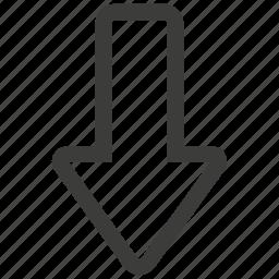 arrow, arrows, direction, down, download, navigation, ui icon