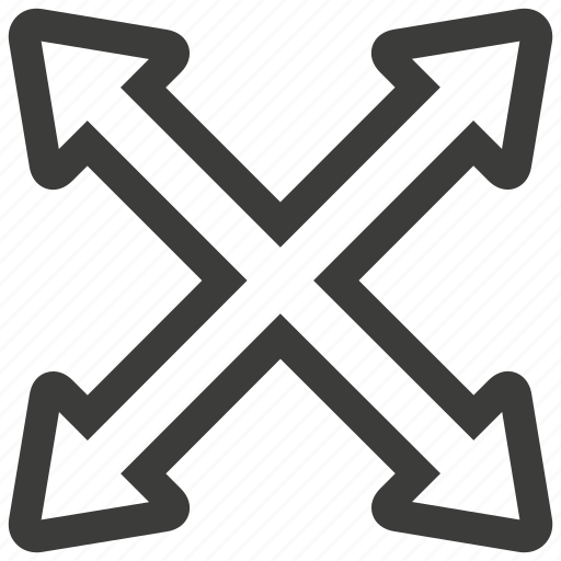 arrow, arrows, direction, enlarge, expand, full, maximize icon