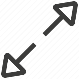 arrow, arrows, direction, enlarge, expand, maximize, zoom out icon