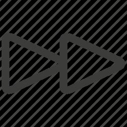 arrow, direction, forward, music, next, right, ui icon