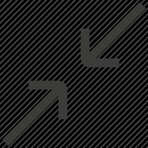 arrow, arrows, exit, minimize, reduce, reduction, zoom icon