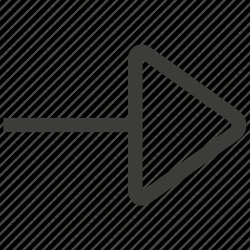 arrow, direction, forward, navigation, next, right, ui icon