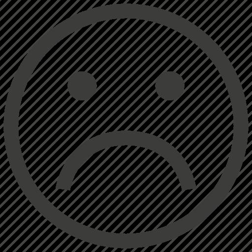 emoji, emoticon, emotion, expression, face, sad, unhappy icon