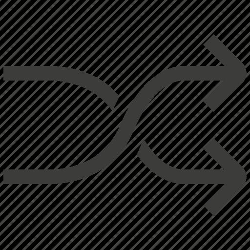 arrow, audio, music, player, random, shuffle, sound icon