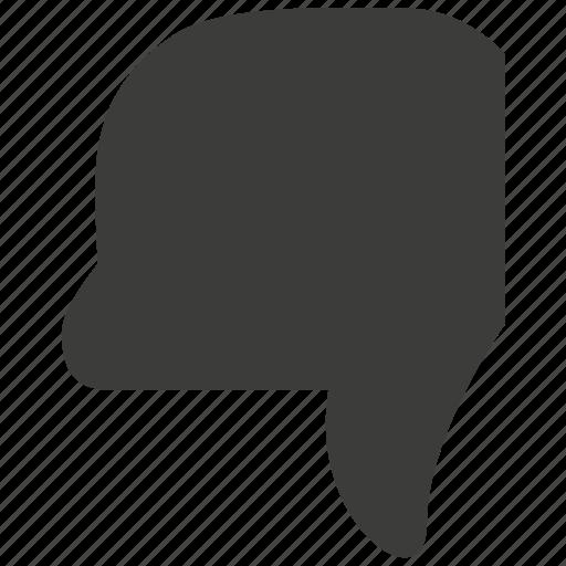 dislike, down, hand, hate, thumb down, thumbs, vote icon