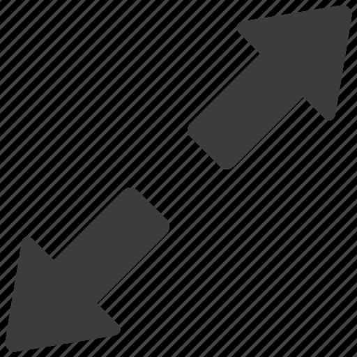 arrows, expand, expanding, full, maximize, shrink, ui icon