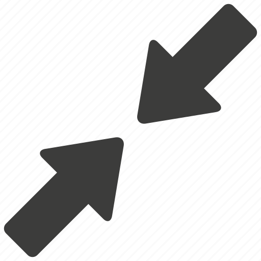 arrow, minimize, reduce, reduction, screen, ui, zoom icon